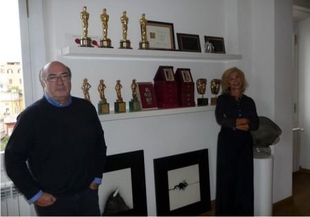 Dante Ferretti con la moglie Francesca Lo Schiavo
