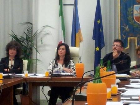 Al centro il sindaco Sabrina Montali