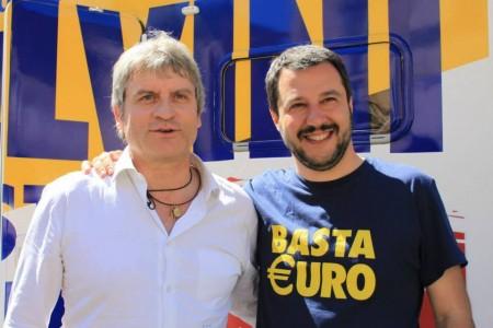 Luca Paolini con Matteo Salvini