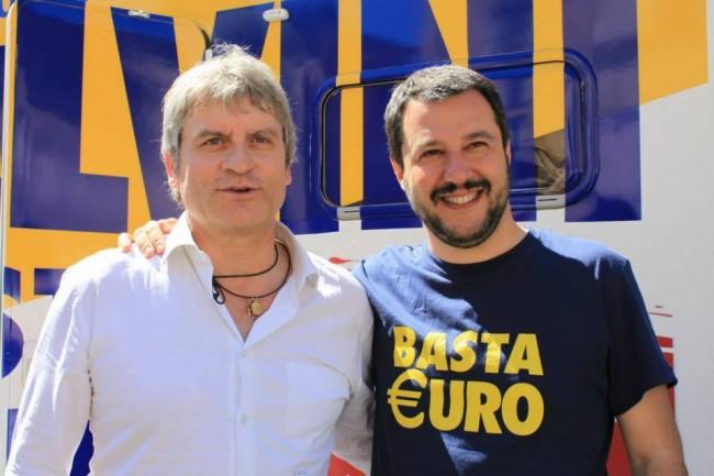Matteo Salvini con Luca Paolini, segretario regionale della Lega Nord