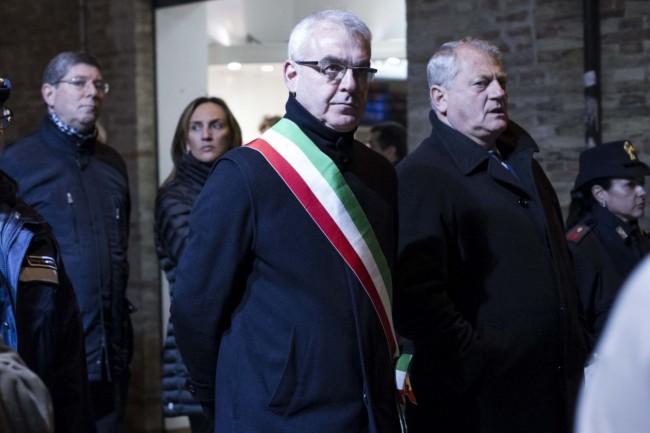 Il sindaco Romano Carancini e il questore Leucio Porto