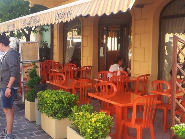 Il ristorante Baia del Corso dove è iniziata la rissa