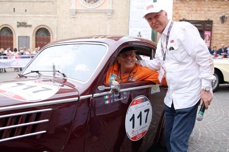 Adalberto Beribè, presidente di Scuderia Marche e Enrico Ruffini presidente dell'Automobile Club di Macerata