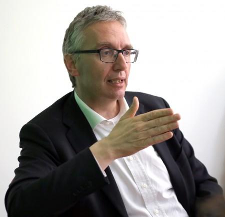 Luca Ceriscioli nella redazione di Cm