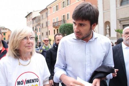 Di Battista Movimento 5 stelle piazza Mazzini Carla Messi 11
