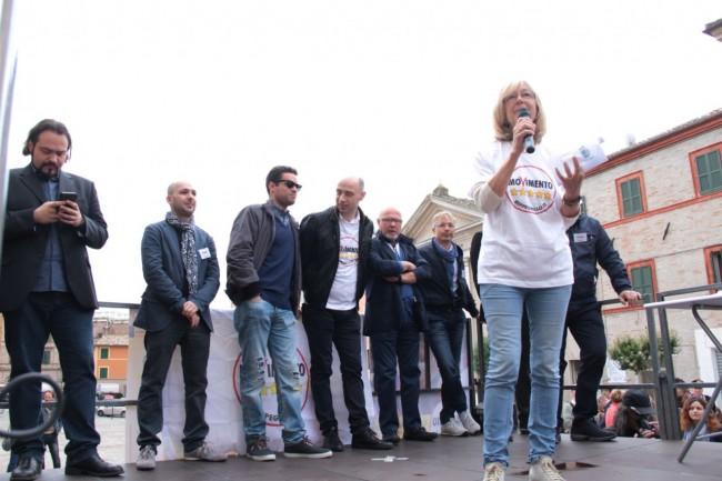 Di Battista Movimento 5 stelle piazza Mazzini Carla Messi 2