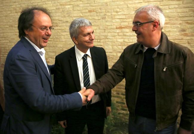 Edoardo Mentrasti, Nichi Vendola e Romano Carancini