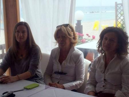 Elena Leonardi, Rosalba Ubaldi e Angelica Sabbatini durante la conferenza stampa di oggi