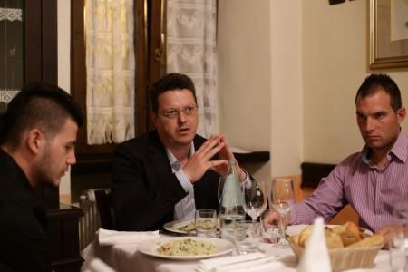 Fratelli d'Italia cena da Rosa 5