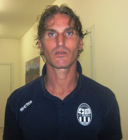Mirko Garaffoni con la maglia della Maceratese