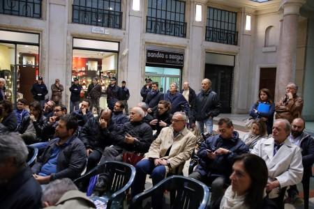 La galleria Scipioni a Macerata durante l'incontro