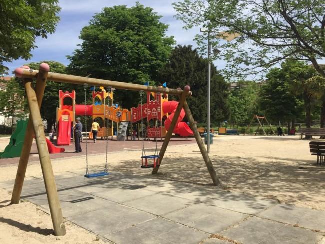 L'area giochi ai giardini Diaz