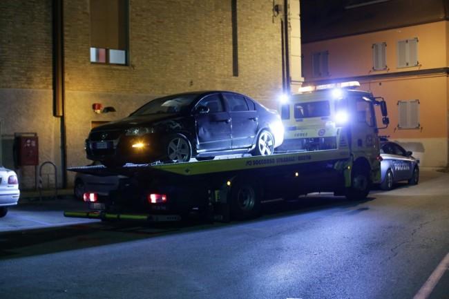 Incidente via severini auto del criminale 1