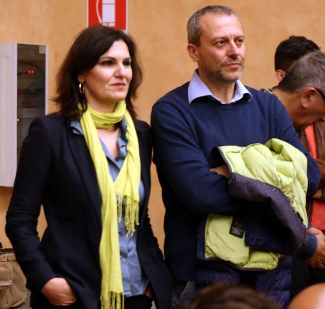 L'assessore Stefania Monteverde e il consigliere uscente Pierpaolo Tartabini, due esponeneti di Sel Macerata