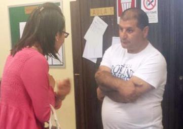 Angelo Marasciulo insieme al suo legale, l'avvocato Ilenia Catalini