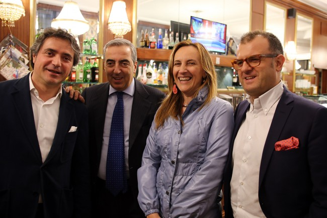 Da sinistra Fabio Pistarelli, Maurizio Gasparri, Deborah Pantana e Riccardo Sacchi