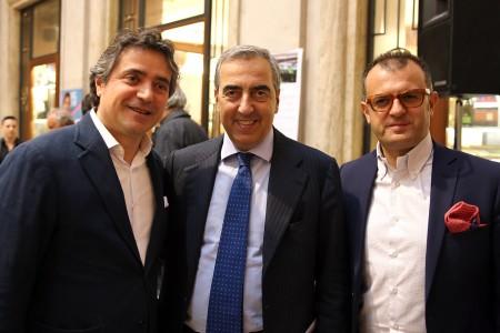 Fabio Pistarelli con Maurizio gasparri e Riccardo Sacchi