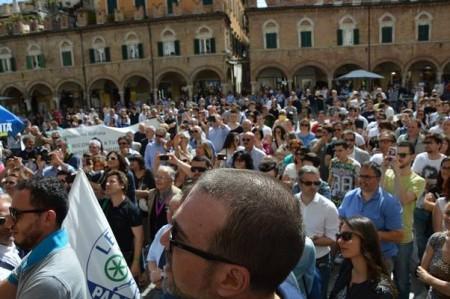 Salvini in piazza ad Ascoli