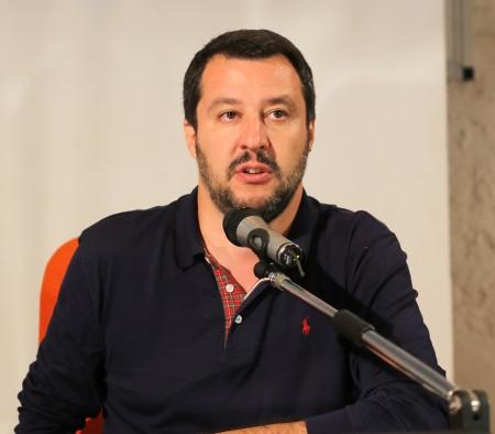 Matteo Salvini all'Abbadia di Fiastra
