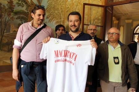 Matteo Salvini all'Abbazia di Fiastra
