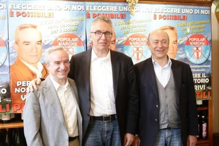 Giacomo Piergentili, Luca Ceriscioli e David Favia