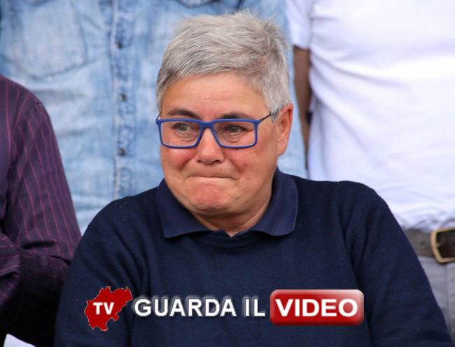 LACRIME DI GIOIA - Maria Francesca Tardella in tribuna durante la partita