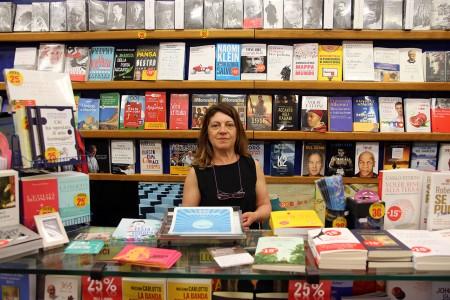 Valentina Pallotto ha aperto la libreria con il marito nel 1996