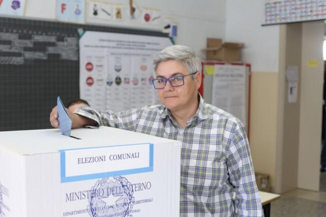 Maria Francesca Tardella ha votato alle 10,30 in via Ercole Rosa