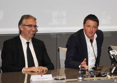 Luca Ceriscioli con Matteo Renzi (foto Luca Toni)
