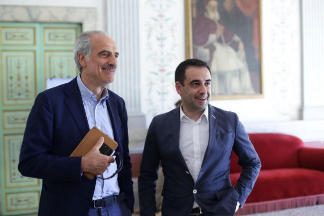 Giulio Silenzi e Francesco Comi