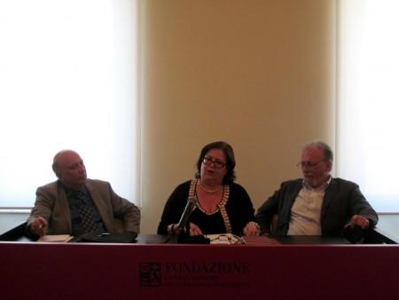 Da sinistra, Andrea Rebechini, Rosaria Del Balzo e Renzo Borroni