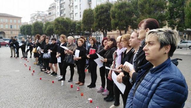 Il flash mob a Civitanova