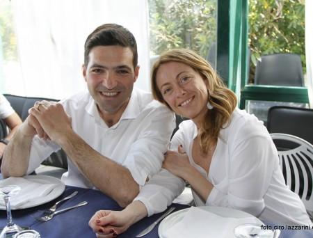 Giorgia Meloni con Francesco Acquaroli