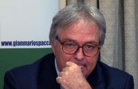 L'ex presidente della Regione Gian Mario Spacca