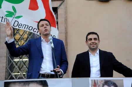 Matteo Renzi e Francesco Comi