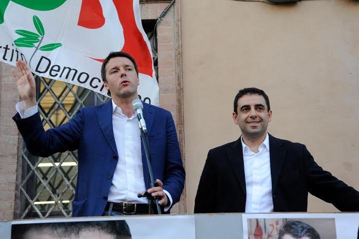 Francesco Comi con Matteo Renzi