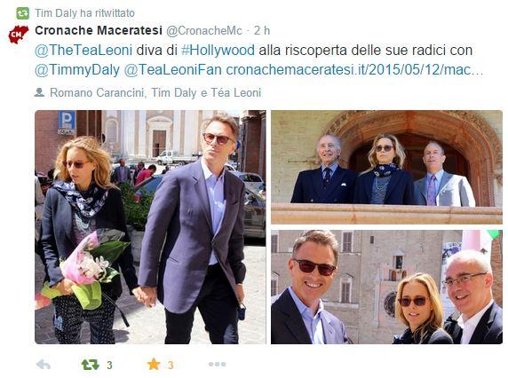Tim Daly ha ritwittato il precdente articolo di Cronache Maceratesi