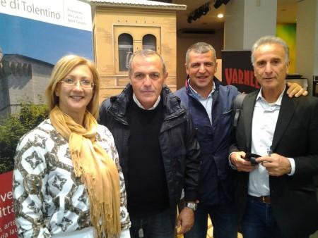 Fabrizio Castori con l'assessore Orietta Leonori, il presidente Assm Stefano Gobbi e il delegato Unicam Roberto Ballini