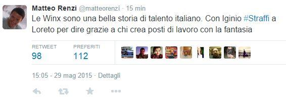 il tweet di Renzi