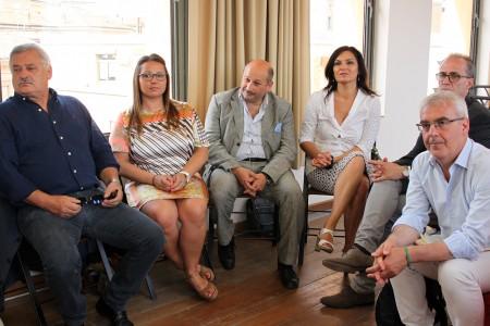 Da sinistra: Alferio Canesin, Marika Marcolini, Narciso Ricotta, Stefania Monteverde e Romano Carancini