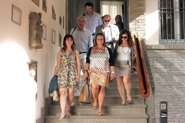 Romano Carancini poco fa con i suoi assessori
