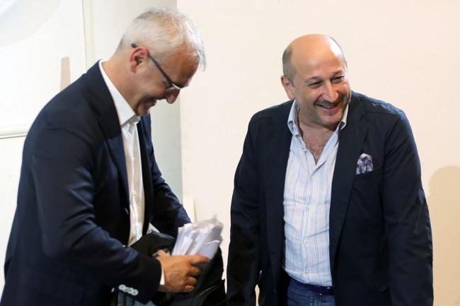 Romano Carancini con Narciso Ricotta, il più votato tra i candidati consiglieri