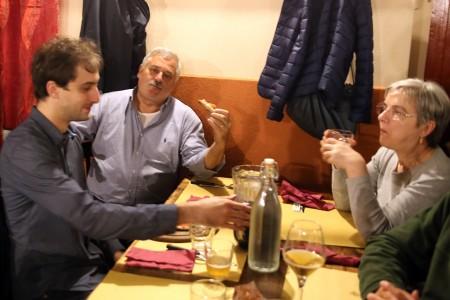 L'assessore uscente Alferio Canesin a tavola
