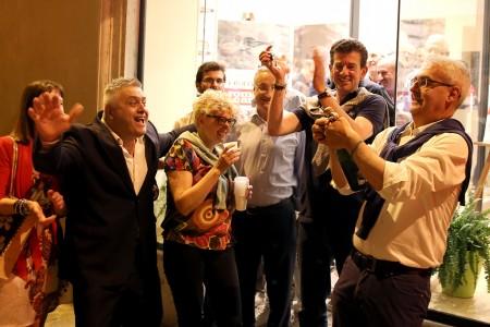 I festeggiamenti per Romano Carancini