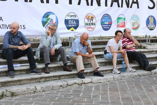 Al centro Guido Garufi e l'ex parlamentare Lega Nord Eraldo Isidori