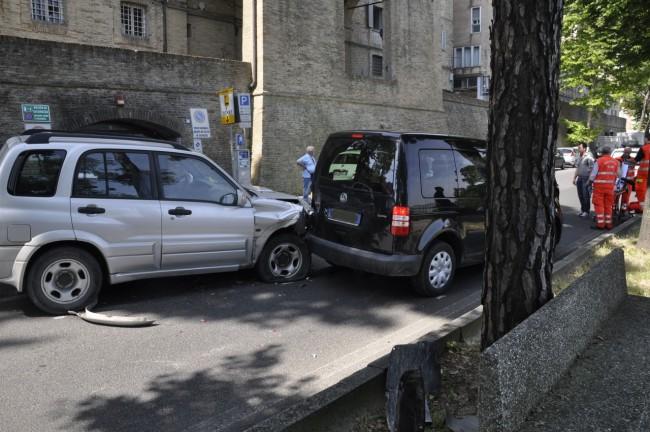 Due delle auto incidentate