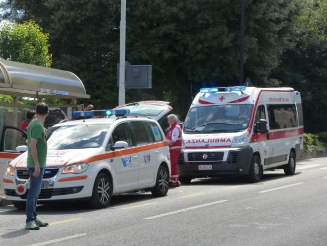 I soccorsi in viale Trieste