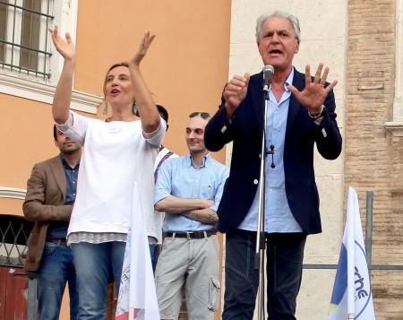 Deborah Pantana con Piero Celani, consigliere regionale di  Forza Italia