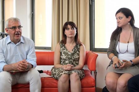 Romano Carancini, Paola Casoni e Federica Curzi