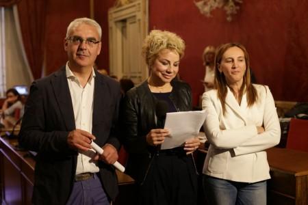 Romano Carancini e Deborah Pantana questo pomeriggio in Comune